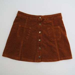 Brandy Melville | Brown Corduroy Mini Skirt (A1)